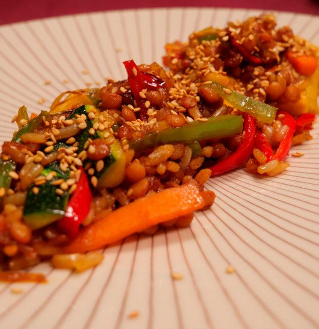 blog -colochef wok arroz, lentejas y verduras